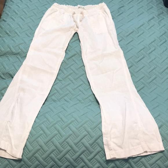 e817975dcb Roxy Pants | Womens White Linen | Poshmark